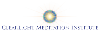 ClearLight Meditation Institute - blue name logo
